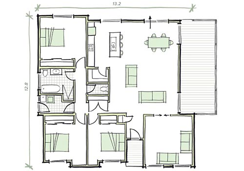 The arkley modular home plans 3 bed