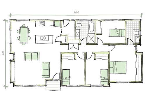 the Balson 4 bedroom modular home