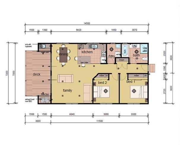The bock modular home 2 bedrooms
