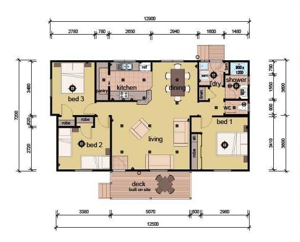 The Boyd - 3 bedroom modular home plans