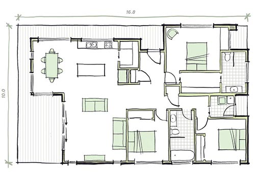The Cassab prefab home plans