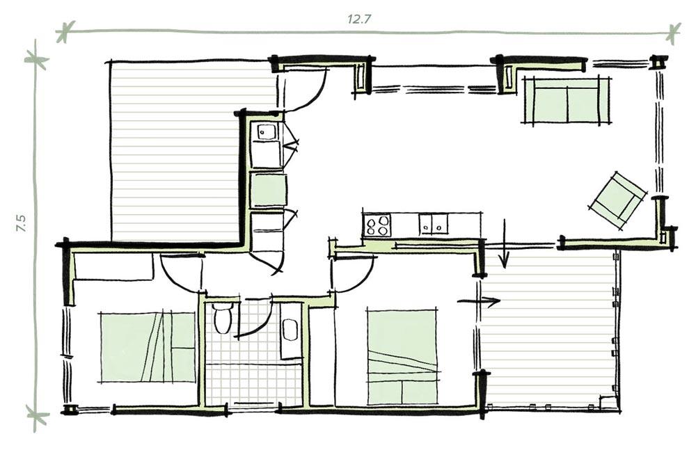 The Cliff Modular prefab home plans