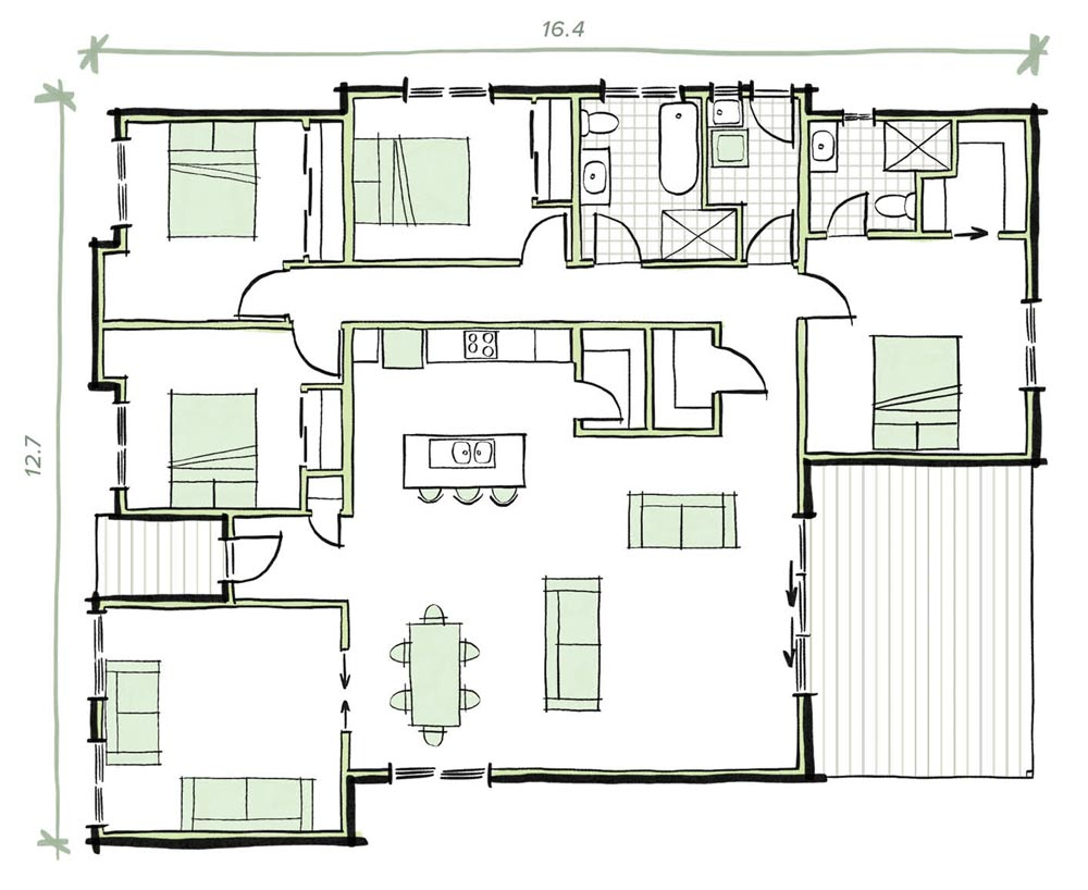 The Coburn Modular Home Plans