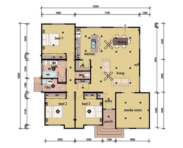 The Coburn - 3 bedroom modular home plans