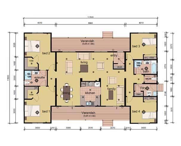 The Mccubbin- 3 bedroom modular home plans