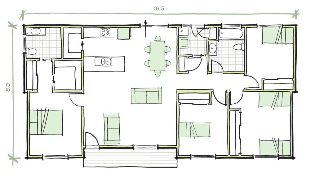 The Crowley Modular Home Plans