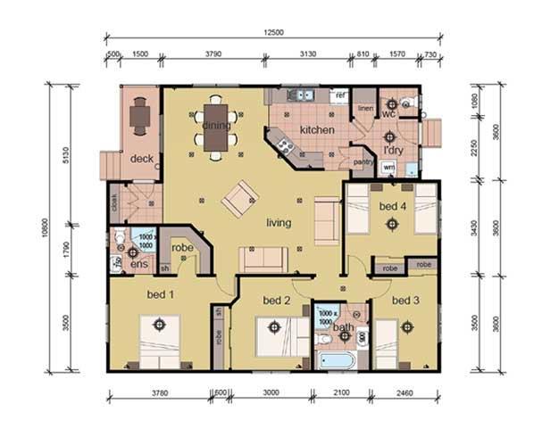 The Dobell - 4 bedroom modular home plans