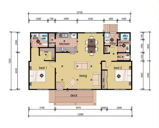 The Drysdale - 3 bedroom modular home plans