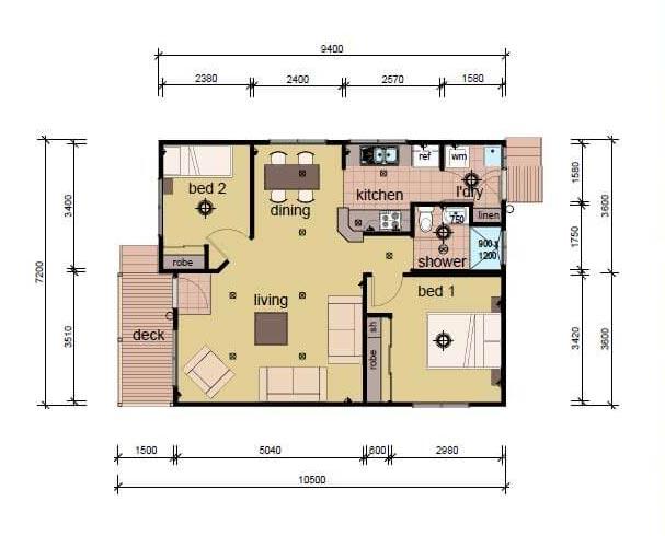 the Glover plan modular home