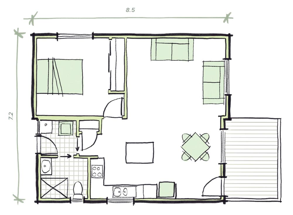 The Heyson Modular Granny flat Plans