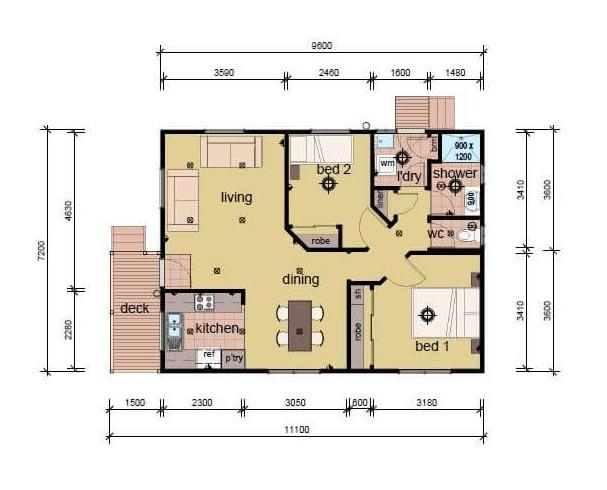 The Lambert prefab home plans