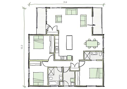 prefab homes - 3 bedroom the lewin