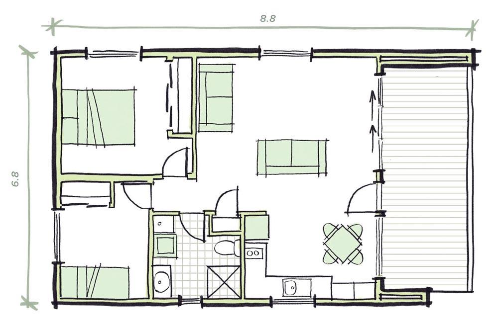 The Olley Modular Granny flat Plans