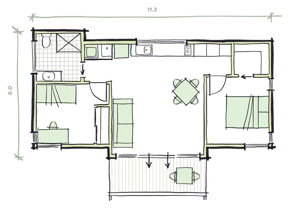 The Olsen Modular Granny flat Plans