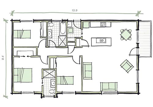 The Patterson modular home 3 bedrooms