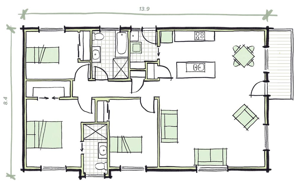 The Patterson Modular Home Plans