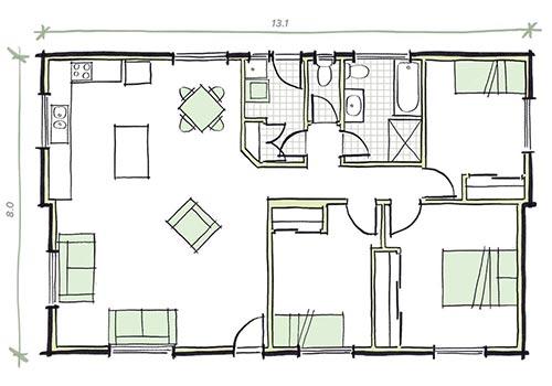 The preston plans - 3 bedroom prefab home