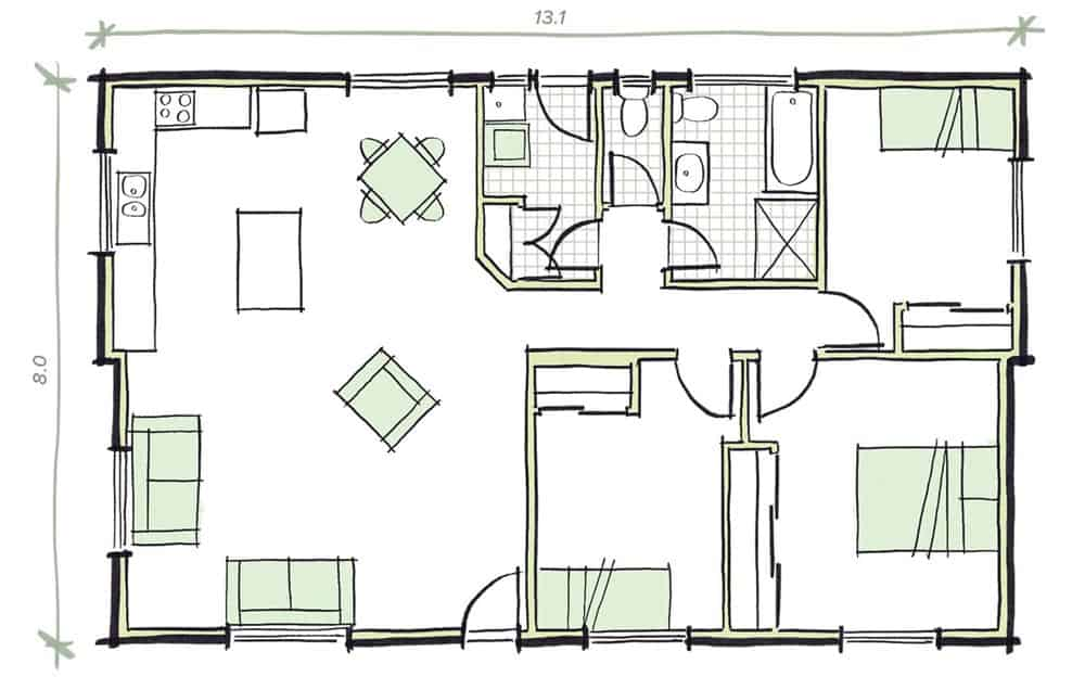 The Preston Modular Home Plans