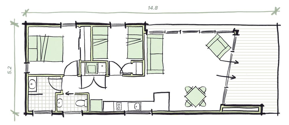 The Proctor Modular Granny flat Plans