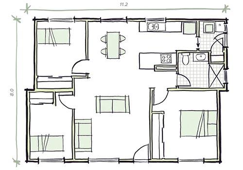 The Ramsey - 3 bedroom modular home plans