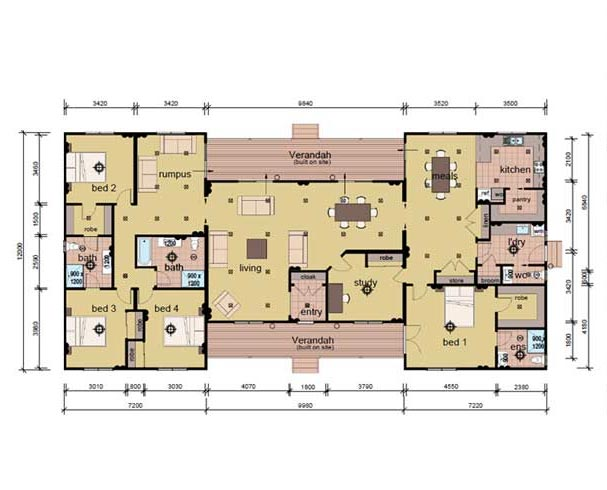 The Russell - 5 bedroom modular home plans