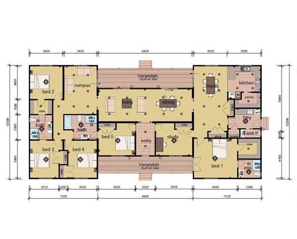 The Russell - 6 bedroom modular home plans