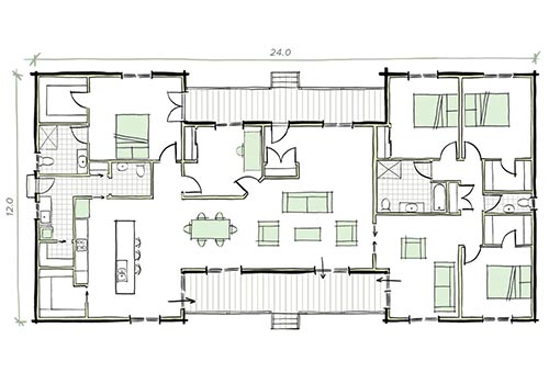 The Russell Modular Home Plans