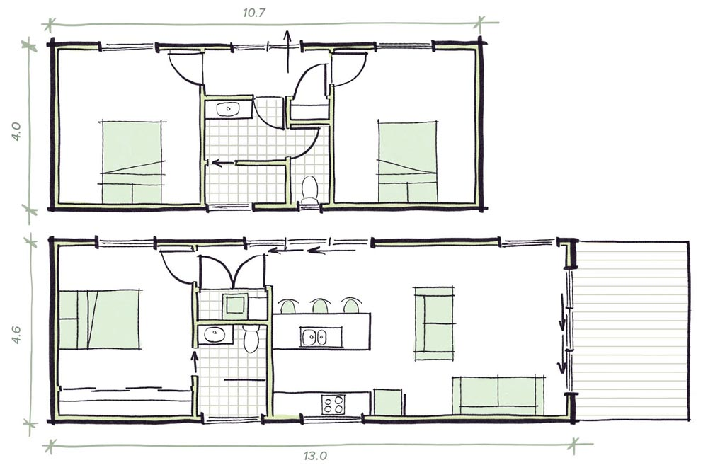The Smart Pod Modular prefab home plans