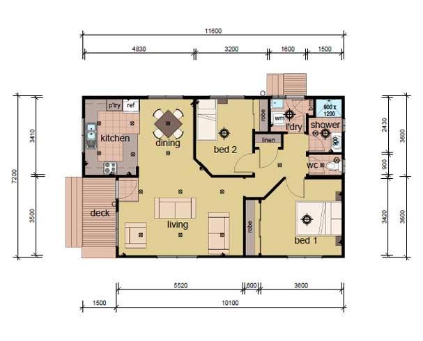prefab homes - 2 bedroom the streeton