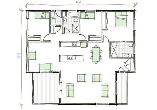 the whitely 3 bedroom home modular building
