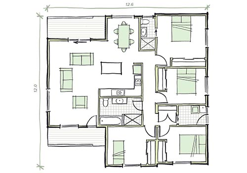 The Withers plan 4 bedroom home